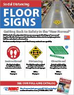 Social Distancing Floor Sign Brochure